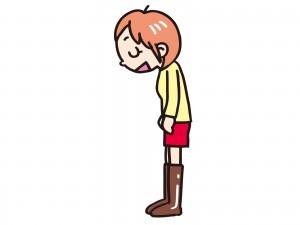 挨拶する女の子 イラスト