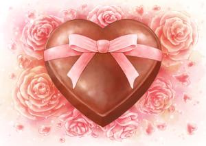 バレンタイン チョコレート ハート イラスト