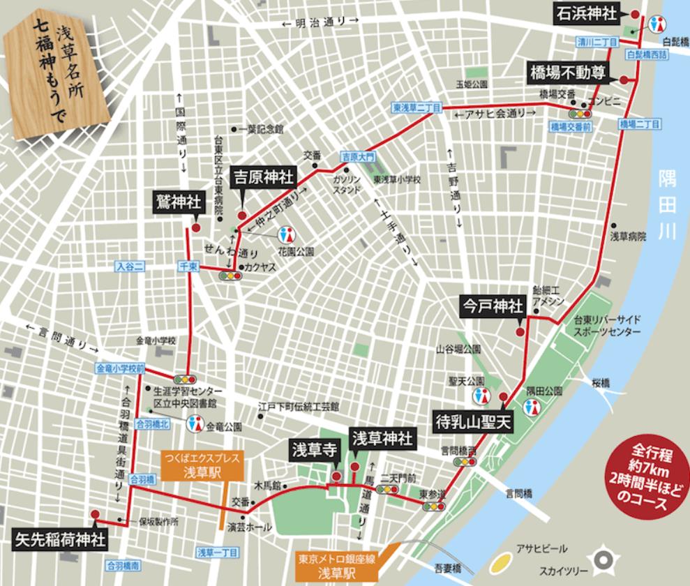 浅草七福神巡り 地図