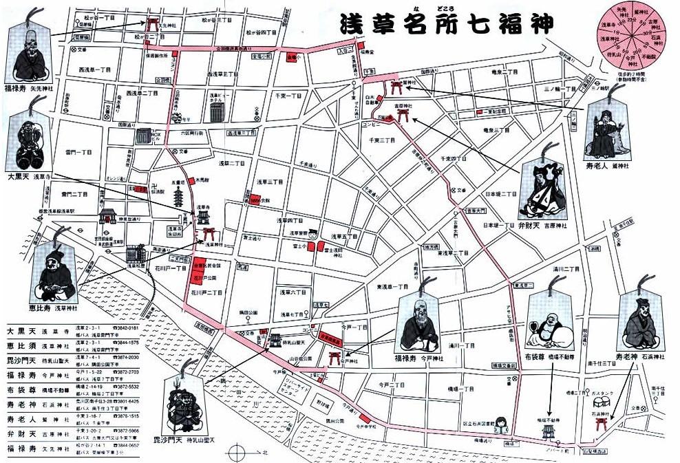 地図 七福神めぐり