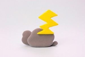 雲と雷 クレイアート