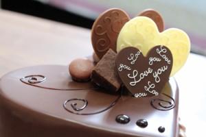 ハート ラブ チョコケーキ