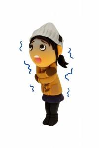 寒さ 震え 女性