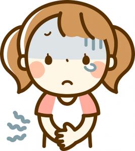 女の子 腹痛 イラスト