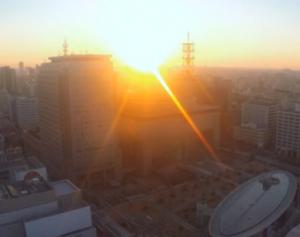 名古屋テレビ塔からの初日の出