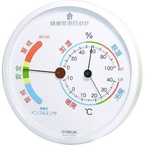 インフルエンザ警報付き温湿度計