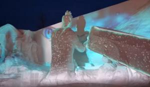 さっぽろ雪まつり プロジェクションマッピング ファイナルファンタジー