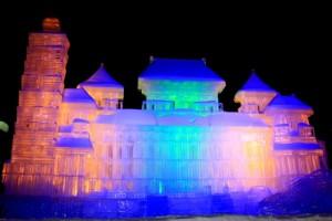 さっぽろ雪まつり 城 氷像