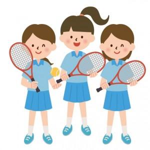 テニス部 女子 イラスト