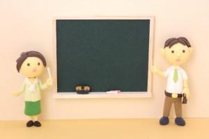 黒板と先生 クレイアート
