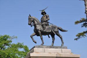 仙台城跡 伊達政宗騎馬像