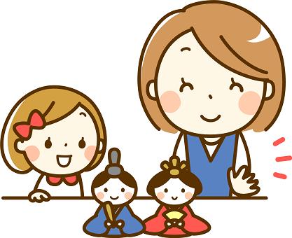 親子 ひな人形 イラスト