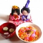 雛人形 ちらし寿司 お吸い物