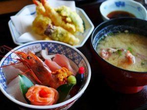 海鮮丼・天ぷらセット ランチ