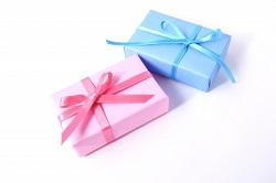 プレゼント ブルー ピンク