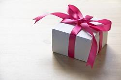 ピンクリボンのプレゼント