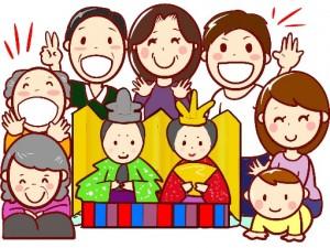 家族 ひな人形