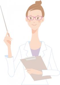 メガネをかけた女医 イラスト ポイント