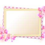 メッセージカード 桜 イラスト