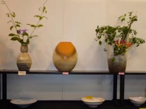 萩焼祭り 陶器 花