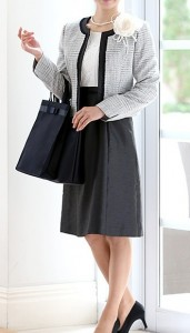 シャンタン生地 スカート ジャケット