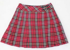 赤チェック スカート