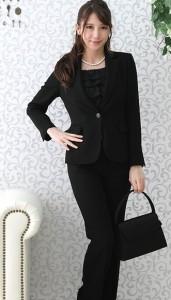 パンツスーツ ブラック