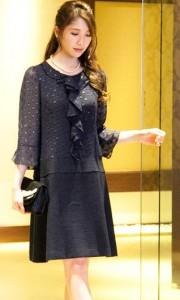 ワンピース シフォン ツィード 卒業式 母親