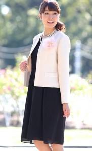 ワンピース 黒 シフォン 卒業式 母親