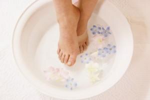 洗面器 足