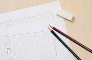 原稿用紙 鉛筆