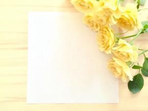 黄色いバラ 手紙