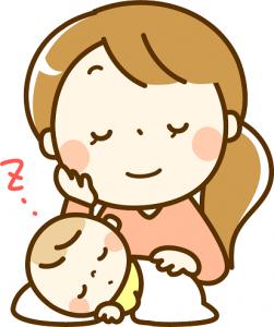 ママ 寝る赤ちゃん イラスト