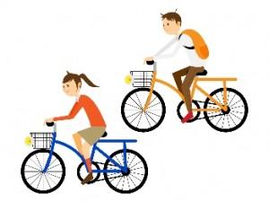 自転車 男女 イラスト
