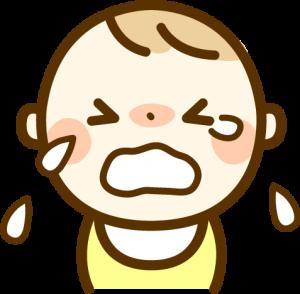 泣く赤ちゃん イラスト