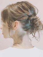 髪型 ミディアム アップスタイル