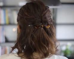 ハーフアップアレンジ ミディアムヘア ヘアアクセサリー