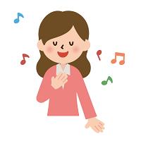 歌う女性 イラスト