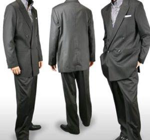男性 ダブルスーツ