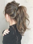 ロング 髪型 アップスタイル