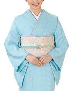 女性 水色の着物