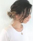 アップスタイル ミディアムヘア