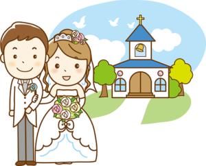 チャペル 結婚式 イラスト