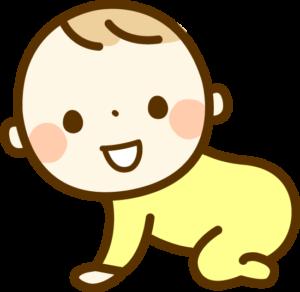 ハイハイする赤ちゃん イラスト