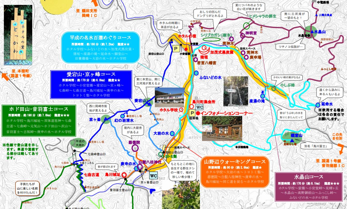 鳥川ホタルの里 散策 地図
