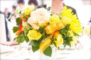 披露宴 テーブルの花