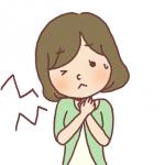 喉の痛み 女性 イラスト