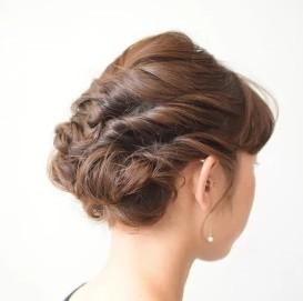 髪型 フィッシュボーン ロープ編み