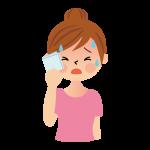 汗をかく女性 イラスト