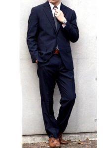 男性 服装 スーツ ネイビー